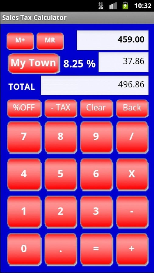 Sales Tax Calculator Free - screenshot