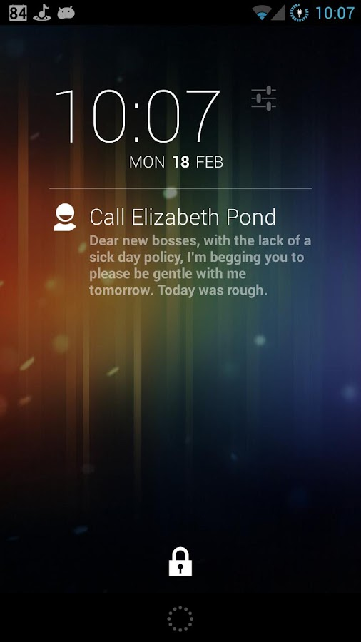 DashClock Contact Extension - screenshot