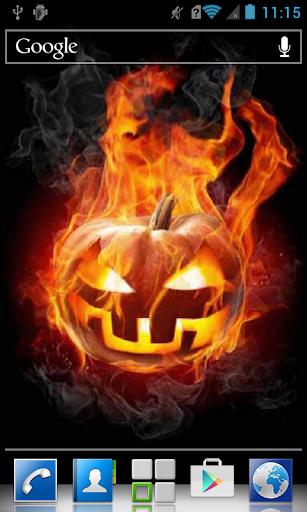 Pumpkin enveloped by fire LWP