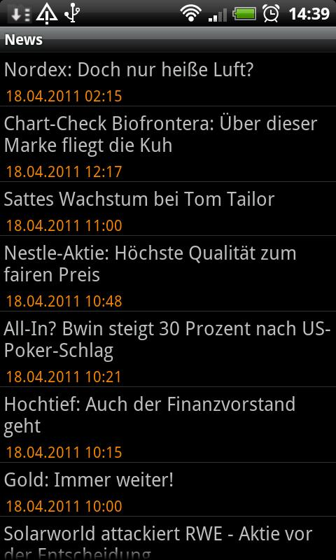 Börse (Aktien und Co) - screenshot