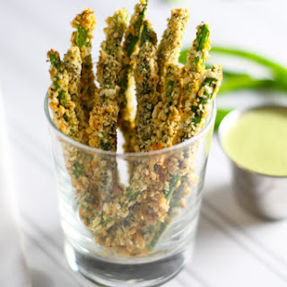 Green Bean Fries with a Trio of Dipping Sauces