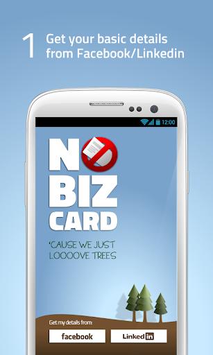 NoBizCard - 发送您的联系方式