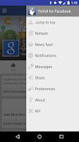 Screenshot of Tinfoil for Facebook