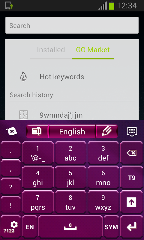 Keyboard for Android Purple - screenshot