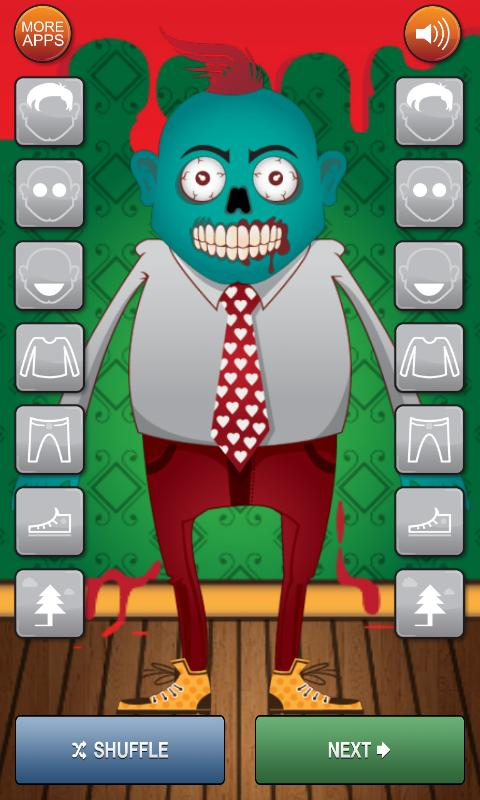 Zombie Dress Up Game - screenshot