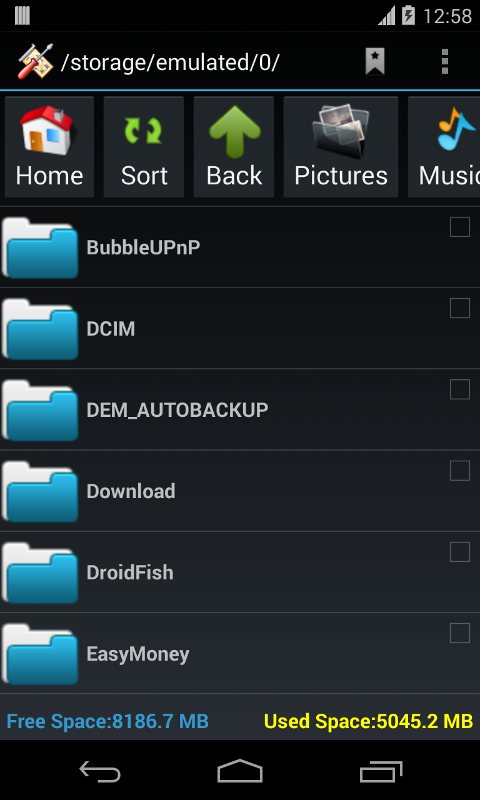 SD Card Manager (File Manager)- screenshot