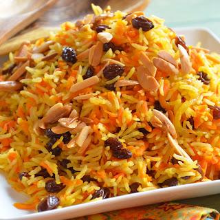 Rosh Hashanah Carrot and Raisin Basmati Rice.