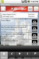 Screenshot of Disney World MouseWait FREE