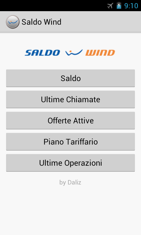 Saldo Wind - screenshot