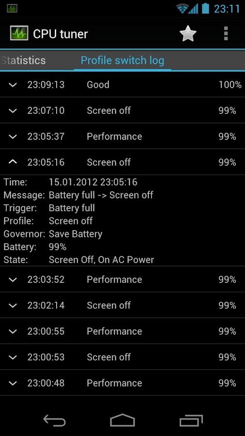 CPU tuner (Rooted phones)- screenshot