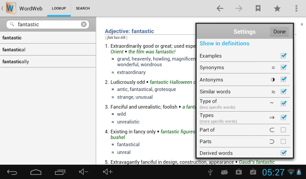 Dictionary - WordWeb - screenshot