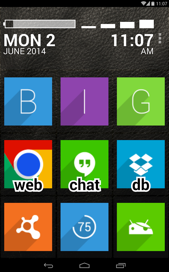 BIG Launcher Easy Phone DEMO - screenshot