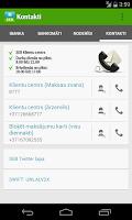 Screenshot of SEB Latvia