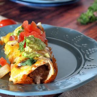 Crock Pot Roast Enchiladas.