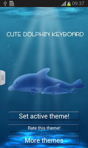 可爱的海豚键盘
