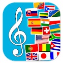 Flags and anthems of countries icon