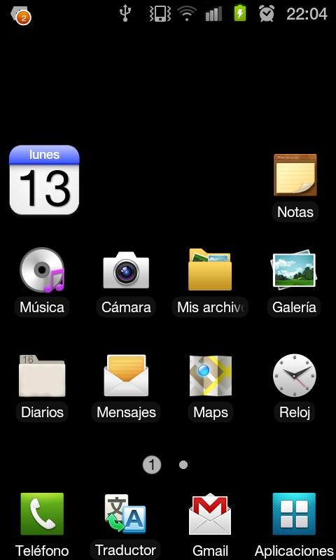 eCalendar widget - screenshot