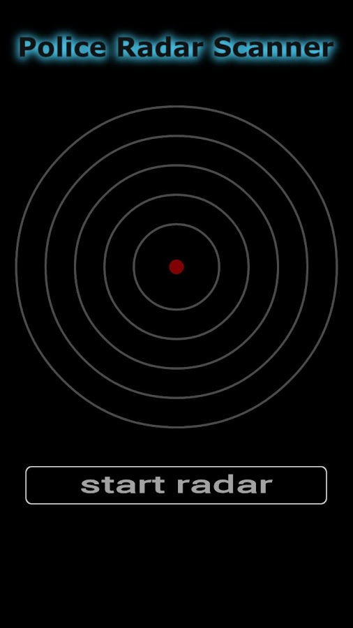 Police Radar Scanner - screenshot