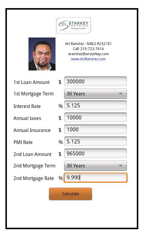 Art Ramirez - Mortgage Calcul - screenshot