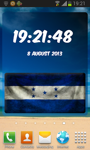 Honduras Digital Clock