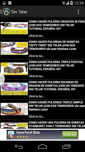 Pulseras Gomitas en Español