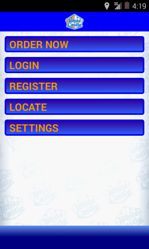 White Castle Ordering - screenshot