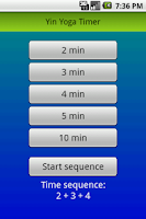 Screenshot of Yin Yoga Timer
