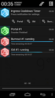 Screenshot of Ingress Cooldown Timer