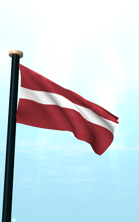 Latvia Flag 3D Free Wallpaper - screenshot