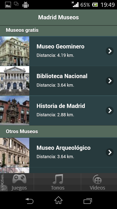 Madrid Museums- screenshot