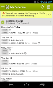 HotSchedules - screenshot thumbnail