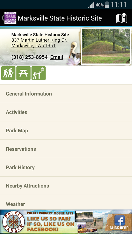 LA State Parks App- screenshot