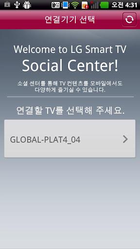 как установить the social center lg smart