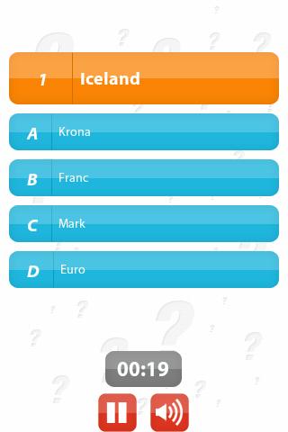 Country & Currency: 100Q Quiz- screenshot