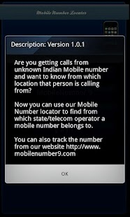 New Mobile Number Locator - screenshot thumbnail