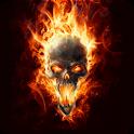 Magic Effect :Skull in Fire