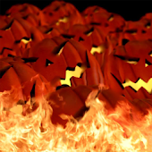 Burning Pumpkins Live Theme
