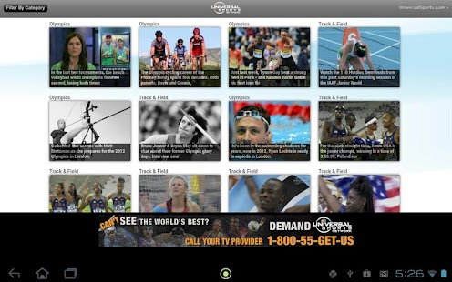 Universal Sports Network - screenshot thumbnail
