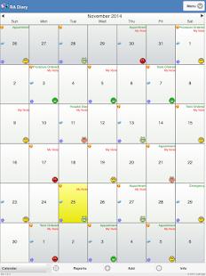 Rheumatoid Arthritis Diary screenshot for Android