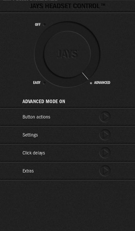 JAYS Headset Control - screenshot