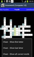 Screenshot of Crossword (Computer US)