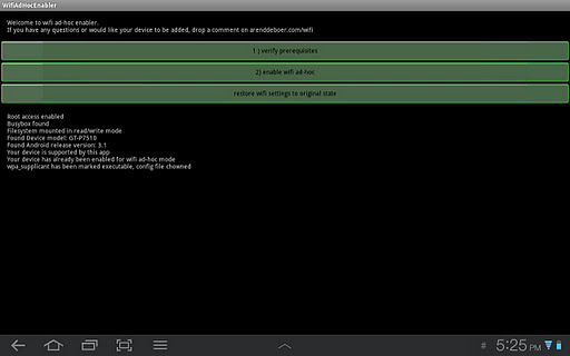 WiFi Ad Hoc enabler v1.8.4
