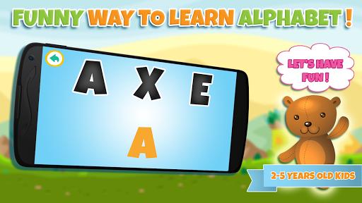 學習遊戲的孩子:字母ABC