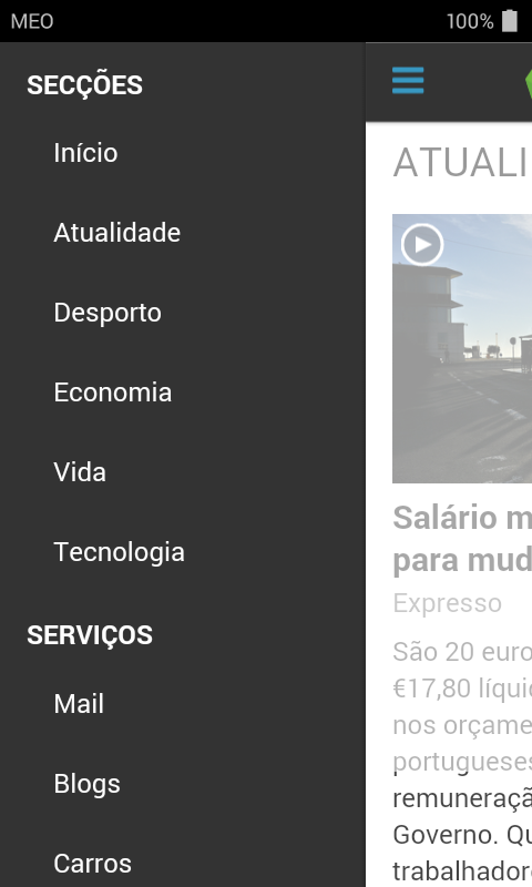SAPO Mobile- screenshot