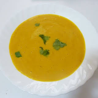 Cream of Pumpkin and Carrot Soup.
