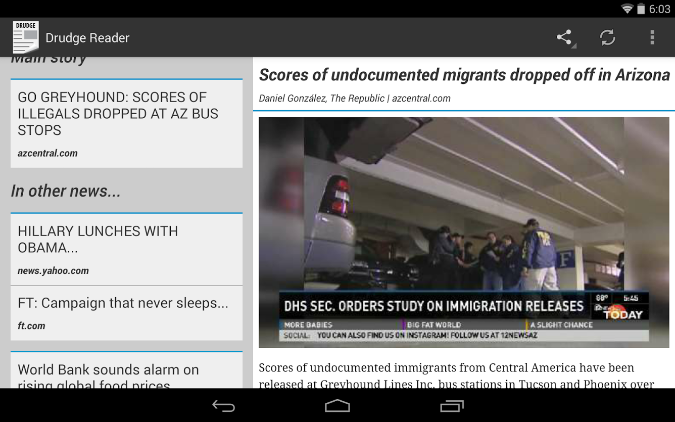 Drudge Reader Android Apps On Google Play