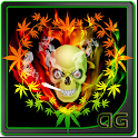 Skull Smoke Weed Parallax LWP icon