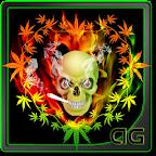 Skull Smoke Weed Animated LWP