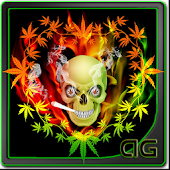 Skull Smoke Weed Animated LWP