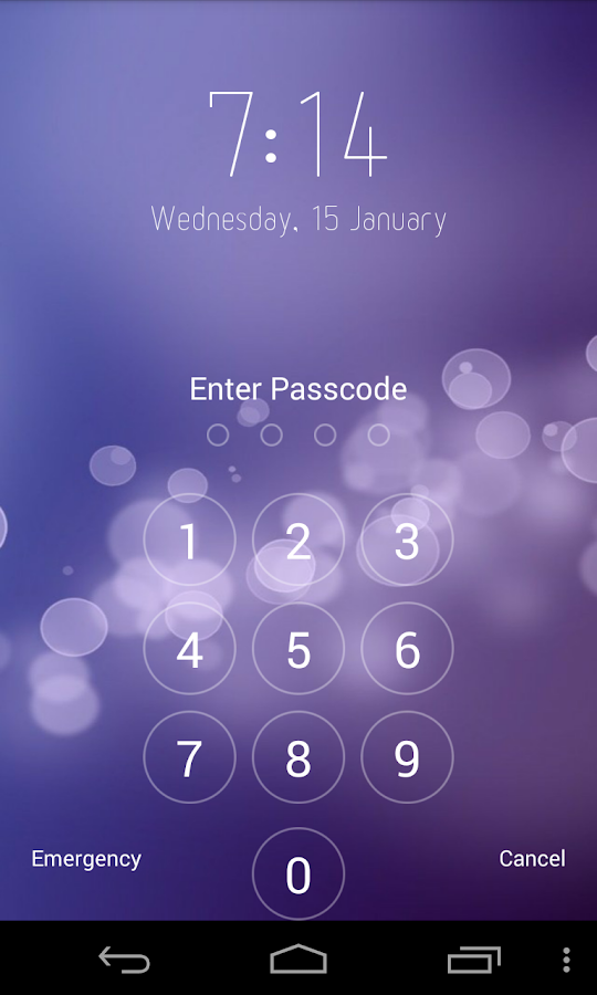 Keypad Lock Screen - screenshot